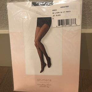 56ac192103593 Shimera Accessories | Nwt Black Fleece Lined Feather Tights Lxl ...